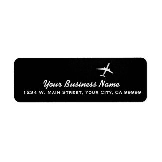 Flying Away | High Altitude Airplane Jet Plane Label