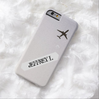 Flying Away   High Altitude Airplane Personalized Barely There iPhone 6 Case