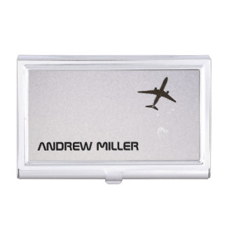 Flying Away/High Altitude Airplane Personalized Business Card Case