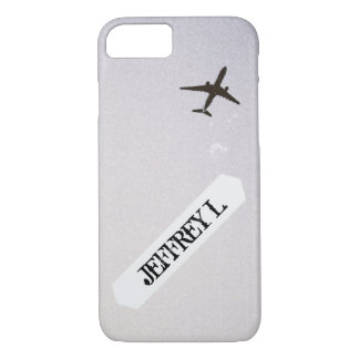 Flying Away | High Altitude Airplane Personalized iPhone 8/7 Case