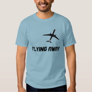 Flying Away   High Altitude Flying Airplane Custom T Shirt