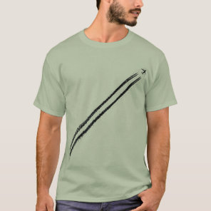 Flying Away/High Altitude Jet Airplane Contrail T-Shirt