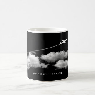 Flying Away/Jet Airplane/Personalized Pilot Coffee Mug