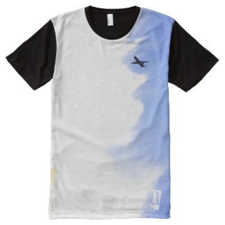 Flying Away Jet Plane in Sky Personalized All-Over Print T-shirt