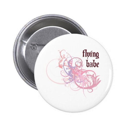 Flying Babe Button