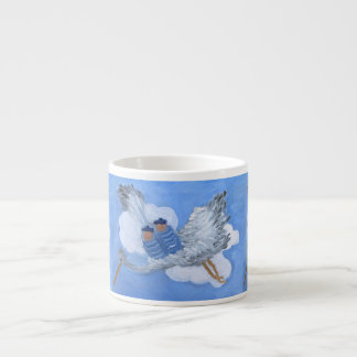 Flying Babies and Stork Espresso Cup