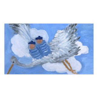 Flying Baby Boys and Stork Business Card