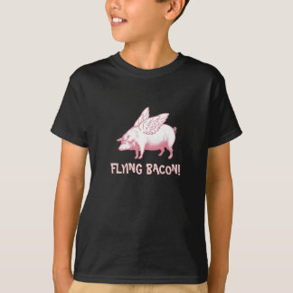 Flying Bacon With Pink Pig With Wings T-Shirt