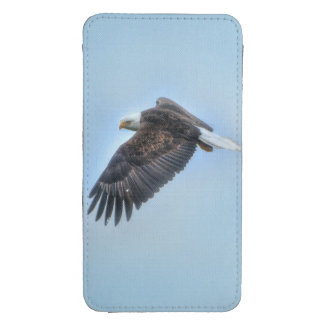 Flying Bald Eagle and Clouds Wildlife Photo Galaxy S4 Pouch