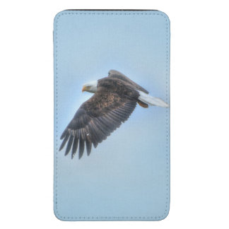 Flying Bald Eagle and Clouds Wildlife Photo Galaxy S5 Pouch