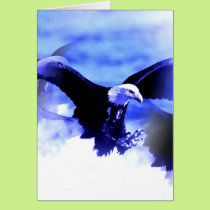 Flying Bald Eagle Card