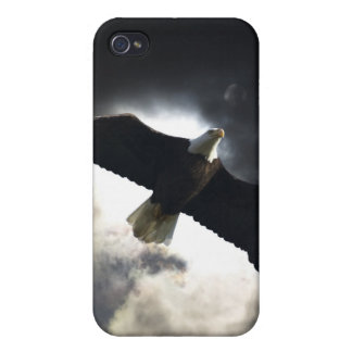 Flying Bald Eagle & Clouds Wildlife Photography Cover For iPhone 4