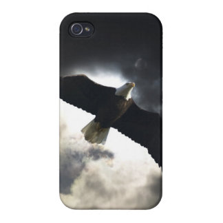 Flying Bald Eagle & Clouds Wildlife Photography iPhone 4/4S Case