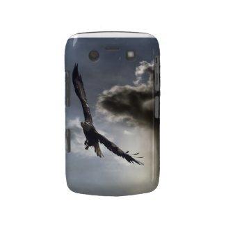 Flying Bald Eagle & Cloudy Sky Blackberry Case casemate_case