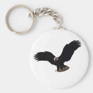 Flying Bald Eagle Keychains