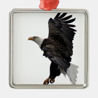 Flying Bald Eagle Metal Ornament