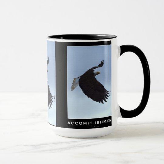 Flying Bald Eagle Motivational Mugs