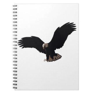 Flying Bald Eagle Notebooks