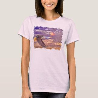 Flying Bald Eagle & Rumi's Poem on Living T-Shirt