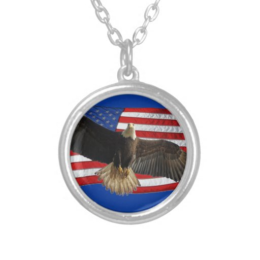 Flying Bald Eagle US Flag Patriotic Gift Jewelry