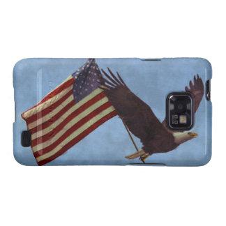 Flying Bald Eagle & US Flag Patriotic Samsung Case Samsung Galaxy Cases