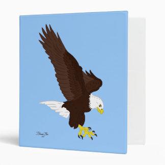 Flying Bald Eagle Vinyl Binders