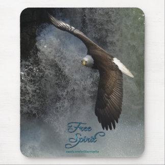 Flying Bald Eagle & Waterfall Mousepad