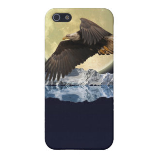 Flying Bald Eagle Wild Moon Gift Designs Case For iPhone SE/5/5s