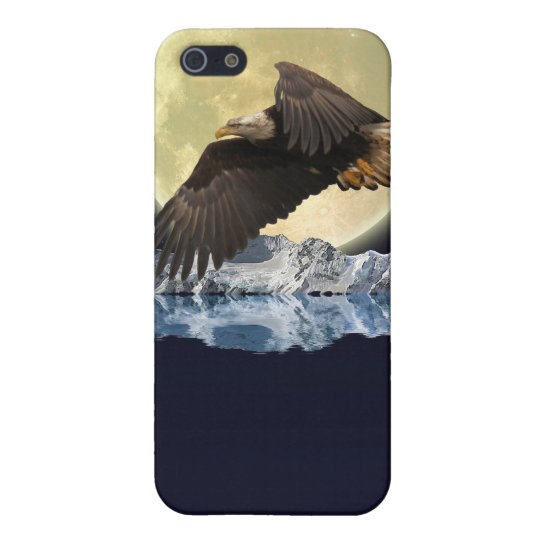 Flying Bald Eagle Wild Moon Gift Designs Cover For iPhone SE/5/5s