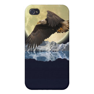 Flying Bald Eagle Wild Moon Gift Designs iPhone 4 Cover