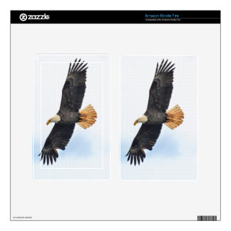 Flying Bald Eagle Wildlife Photograph Skin For Kindle Fire