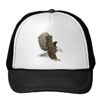 Flying Bald Eagle with Outstretched Wings Trucker Hats