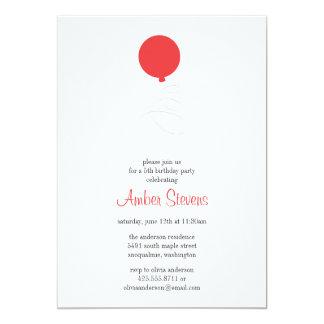 Flying Balloon Party Invitation