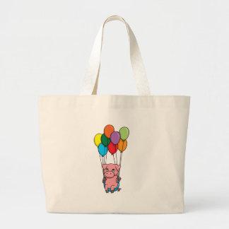 Flying Balloon Pig Tote Bag