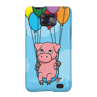 Flying Balloon Pig Samsung Galaxy SII Covers
