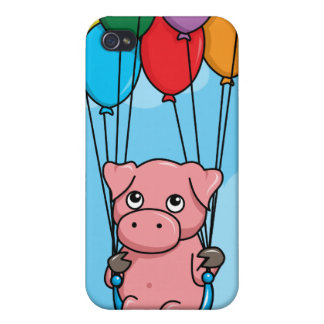 Flying Balloon Pig iPhone 4 Covers