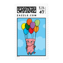 Flying Balloon Pig Postage
