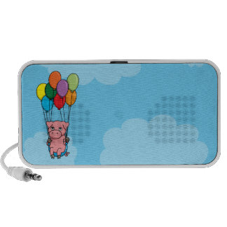 Flying Balloon Pig iPhone Speakers