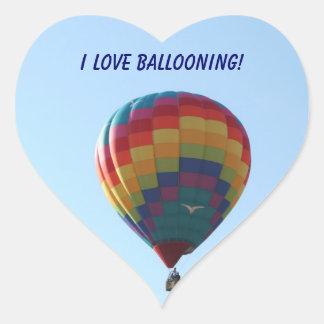Flying Balloon Seagulls Heart Sticker