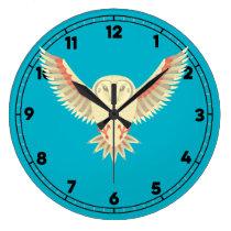 Flying Barn Owl Large Clock