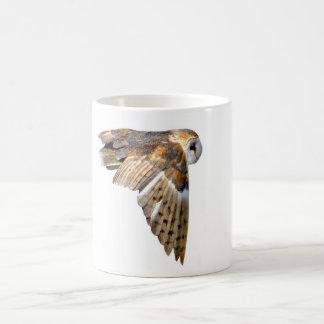 flying barn owl mugs