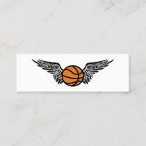 flying basketball ball mini business card