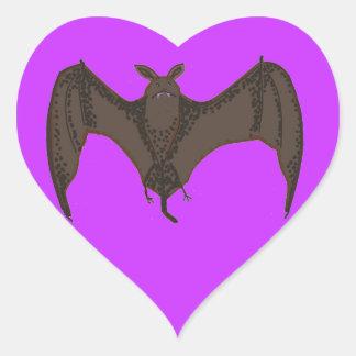 Flying Bat Heart Sticker