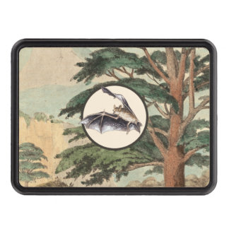 Flying Bat In Natural Habitat Illustration Tow Hitch Covers