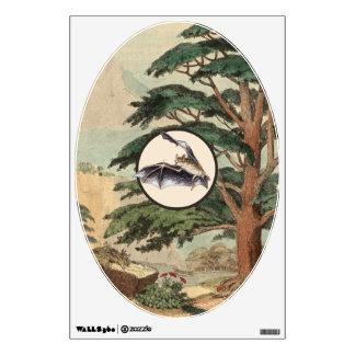 Flying Bat In Natural Habitat Illustration Wall Decal