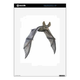 Flying Bat with Wings on Downstroke Decal For The iPad 2