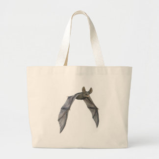 Flying Bat with Wings on Downstroke Large Tote Bag