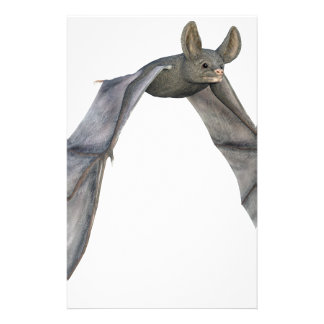 Flying Bat with Wings on Downstroke Stationery
