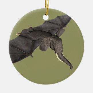 Flying Batphant Ceramic Ornament