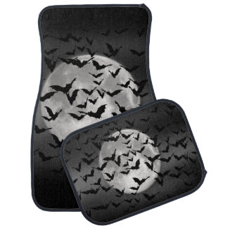 Flying Bats and a Full Moon Car Mat